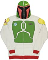 Mad Engine Star Wars Boba Fett Full Zip Adult Costume Hoodie With Backpack