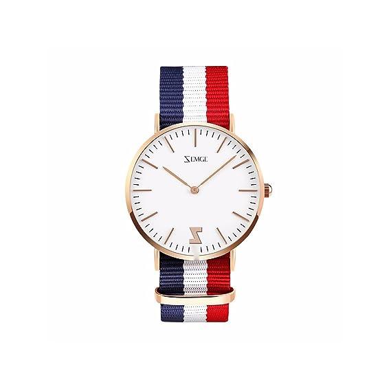 ZEMGE 36mm mujeres relojes Ultra Thin Cuarzo Analógico resistente al agua reloj de pulsera unisex Business Casual simple diseño clásico vestido rosa tono DW ...