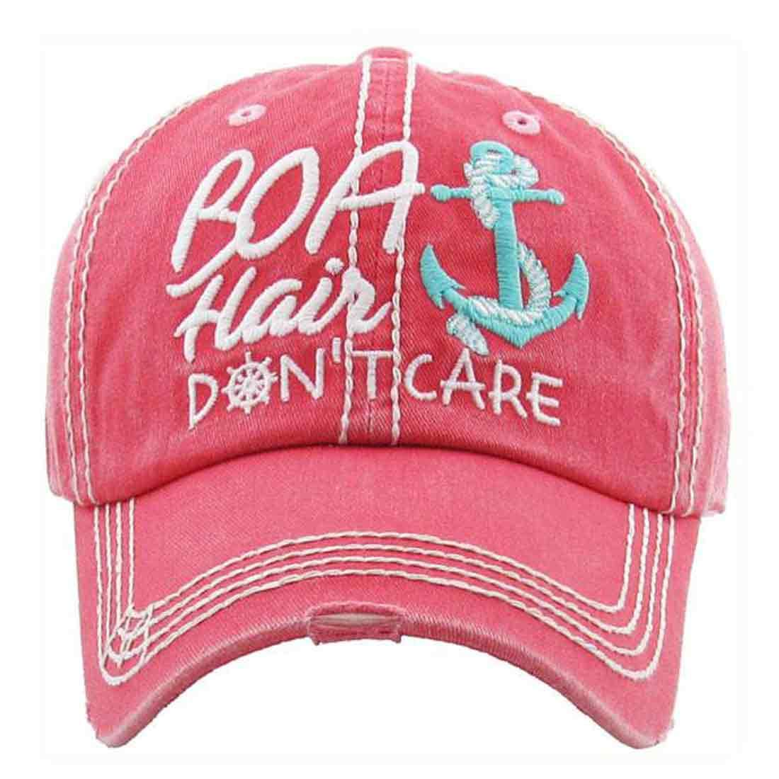 Boat Hair Don't Care Women's Vintage Cotton Baseball Hat