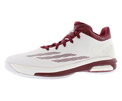 best sneakers 64a2b 58440 adidas Sm Crazylight Boost Low Basketball Men s Shoes Size 11.5  White Burgundy
