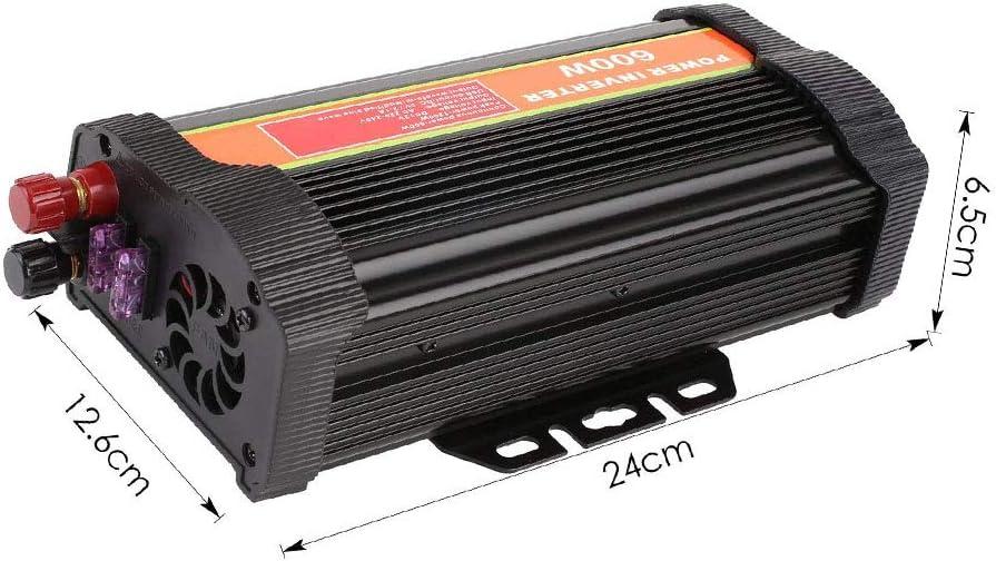 MVPower Convertisseur de Tension 300 W//600 W//1000 W DC 12 V vers AC 220 V avec Certification CE\ROHS 2 Ports USB IKS Prise Allume-Cigare Clips de Batterie de Voiture