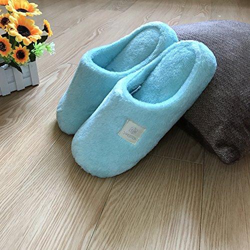 Fankou autunno caldo inverno home soggiorno maschio e femmina giovane cotone pantofole pavimento coperto di spessore, custodia antiscivolo con ,43-44, grigio chiaro