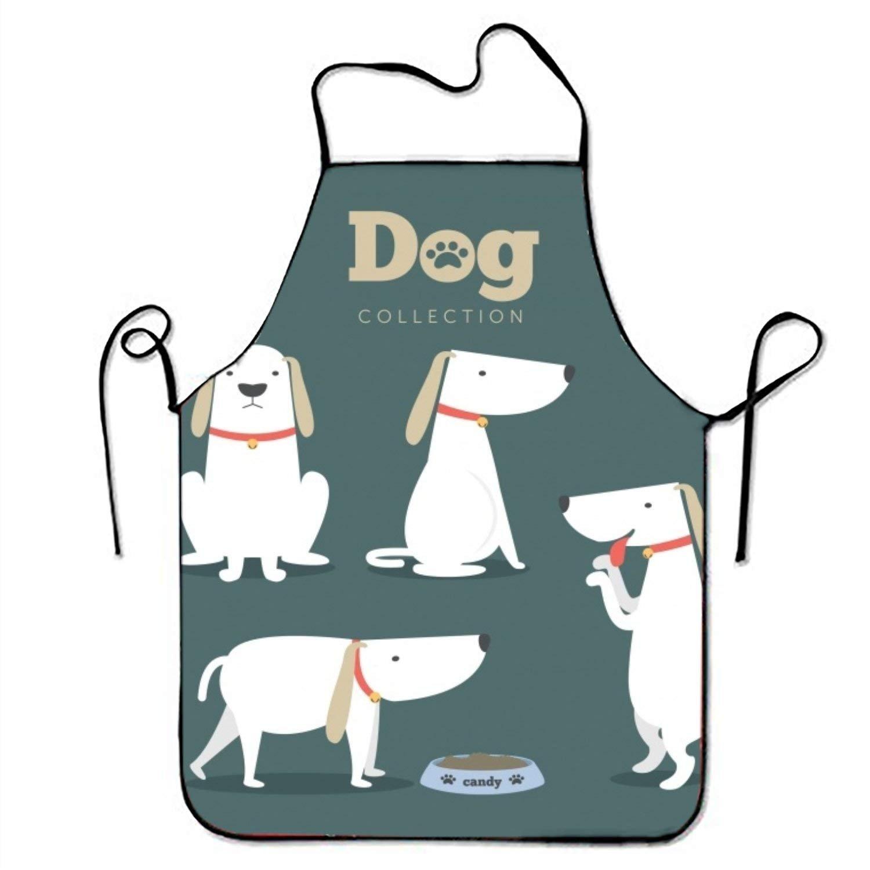 NICE DOG パックキッチン料理エプロン女性と男性用調節可能なネックストラップレストランホームキッチンエプロンBib for、料理BBQ   B07FTJF8Z9