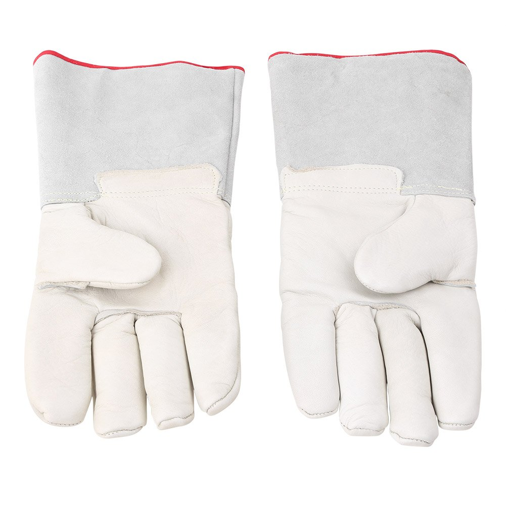 Mallofusa 13.8¡±/35cm Long Cryogenic Gloves Low Temperature LN2 Liquid Nitrogen Protective Gloves Safety Frozen Gloves