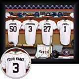 Houston Astros Personalized MLB Baseball Locker Room Jersey Framed Print 13x16 Inches