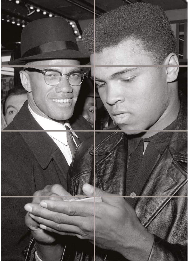 Doppelganger33 LTD Malcolm X Muhammed Ali Meet - 1964 Wall Art Multi Panel Poster Print 33x47 inches