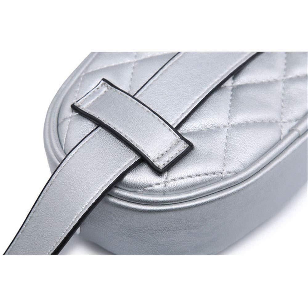 Hip Belt Bags Women Waist Bum Bag Rivet Decor PU Leather Belt Bag with Long Metal Chain Multifunctional Lightweight Zipper Fanny Pack Mini Purse Travel Outdoor Sport Bag Cell Phone Pouch Men /& Women S