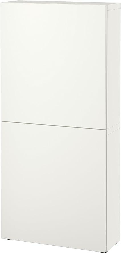 IKEA BESTA – Armario de pared con 2 puertas lappviken blanco ...