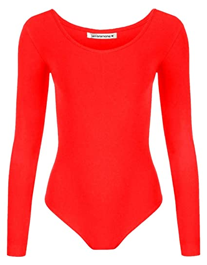 Kids Neon Long Sleeve Bodysuit Girls Plain Dance Ballet Sports Wear Leotard Top