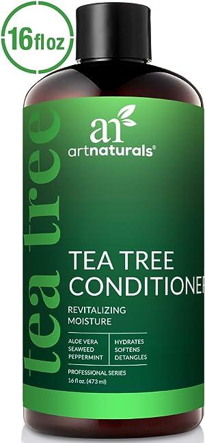 ArtNaturals Tea Tree Conditioner 6 Fl Oz - Sulfate Free – Made w/ 100% Pure Natural Therapeutic Grade Tea Tree Essential Oil - For Dandruff, Sensitive, Itchy, Dry scalp - For Men & Women