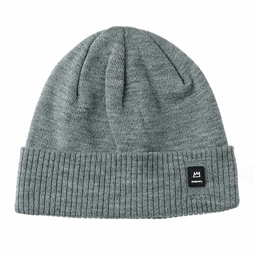 Michel Basquiat Gris WITHMOONS Crown Jean Embroidery Hat Punto CR5493 Beanie Gorros de Slouchy xHq0Y