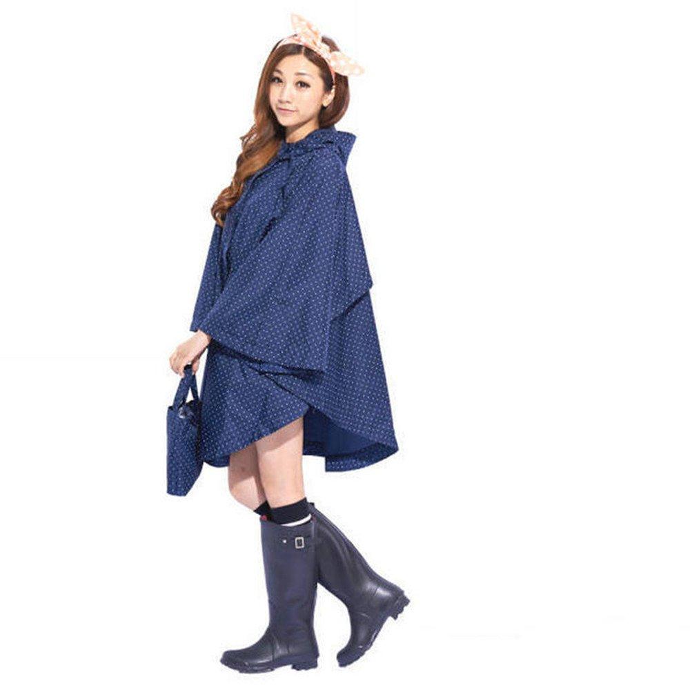 Mantellina da pioggia,Impermeabile moto,Poncio per la pioggia,Poncho antipioggia,robusta e resistente, buona fattura,Tessuto impermeabile eccellente. (Blu) Etang ViXi