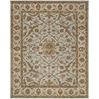 Safavieh Heritage Collection HG937A Handcrafted Traditional Oriental Light Blue and Ivory Wool Area Rug (4 x 6)