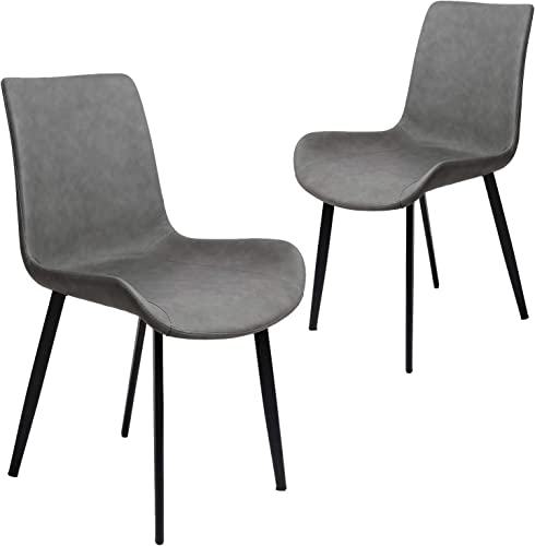Amzdeal Modern Dining Chairs Set of 2 Pre Assembled Mid Century Side Chair
