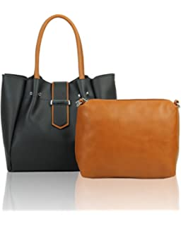 LeahWard 2 in 1 Tote Bags Women s Faux Leather Quality Handbag With Extra  Bag 1379 19780925aea33