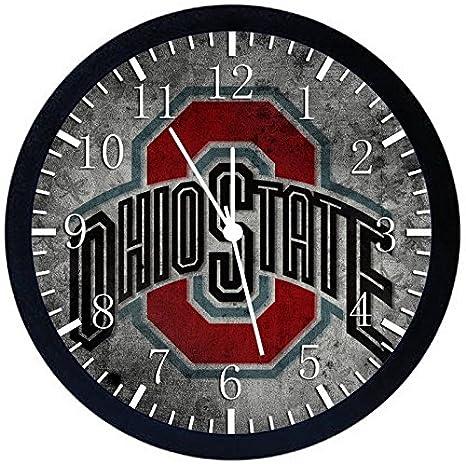 Amazon Com Ohio State Buckeyes Black Frame Wall Clock X50 Nice For