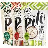 Pili Hunters Pili Nut Variety Pack, Original, Rosemary, Spicy Chili, Paleo, Keto, Vegan, Low Carb, 1.85 oz. Bags - 3-Pack