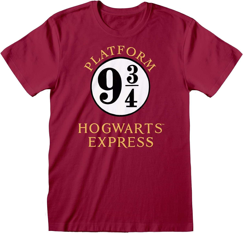 mercanc/ía Oficial Harry Potter Hogwarts Express Novio Ajuste De La Camiseta De Las Mujeres/