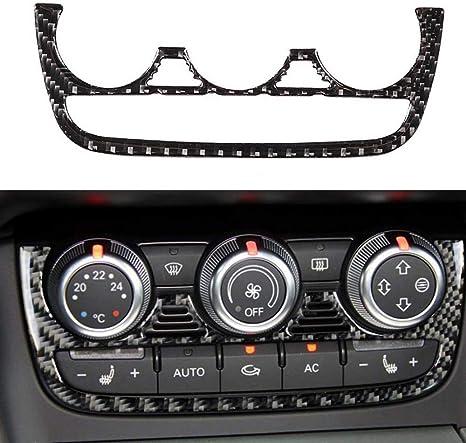 Qualilife Carbon Fiber Auto Klimaanlage Aufkleber Dekoration Fit Für Audi Tt 8n 8j Mk123 Ttrs 2008 2009 2010 2011 2012 2013 2014 Küche Haushalt