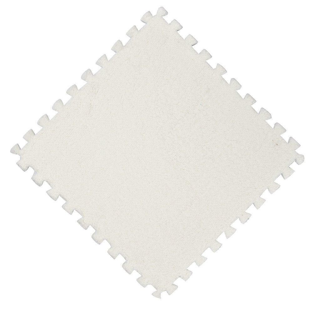 Floor Carpet Tiles,Quaanti 30x30cm Kids Carpet Foam Puzzle Mat EVA Shaggy Velvet Baby Eco Floor Pad Room Bath Rugs Mats Doormat (White)