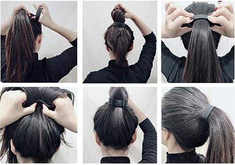 24pc assortiment blanc et noir cheveux Snag Bandes Élastiques à Cheveux Pompon Ponios Poney