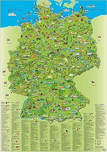Erlebniskarte Illustrierte Deutschlandkarte Amazon De