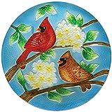 Carson, Cardinal Pair 11'' Hanging Birdbath