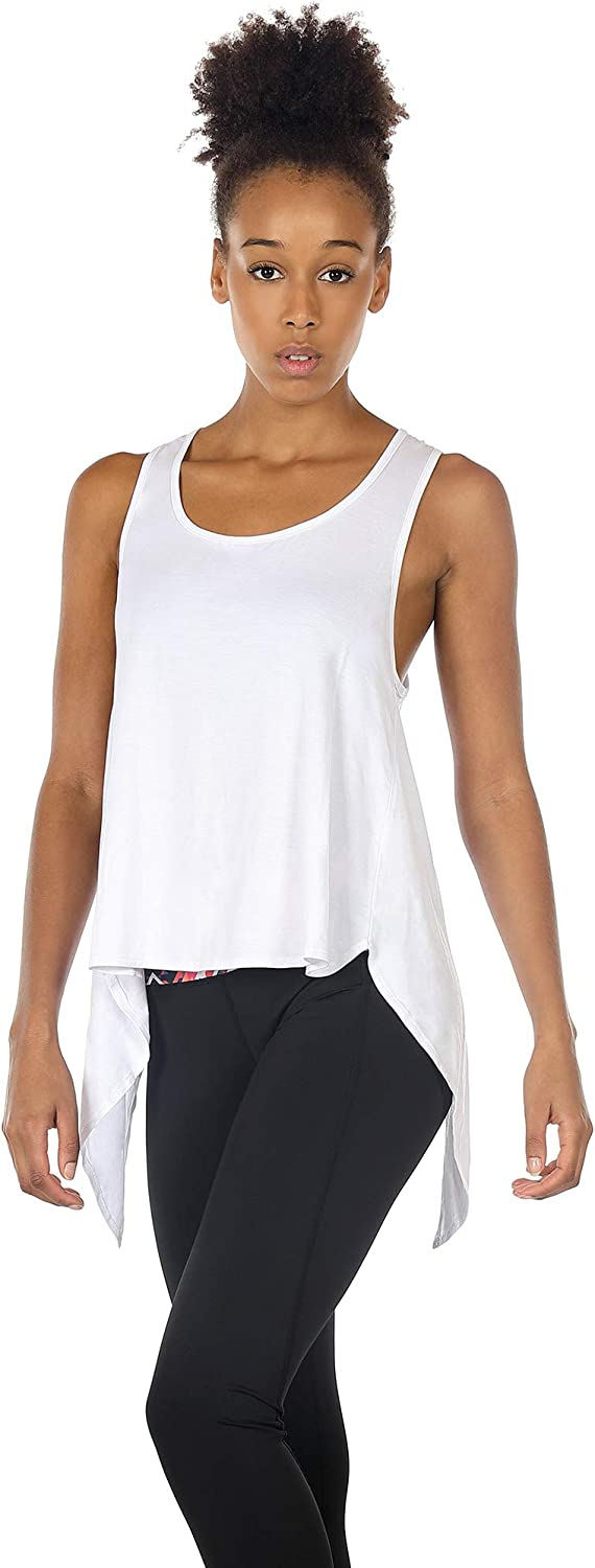 Athletic Shirts Running Sleeveless Tops Exercise Yoga Tank icyzone Open Back Workout Tops for Women