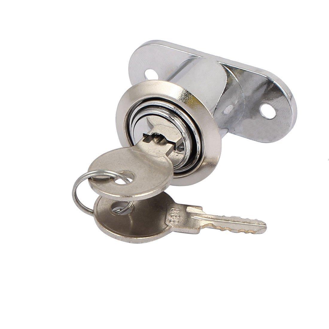 eDealMax Gabinete Armario puerta corrediza de 22 mm x 24 mm Cilindro con llave de bloqueo de seguridad diferente - - Amazon.com