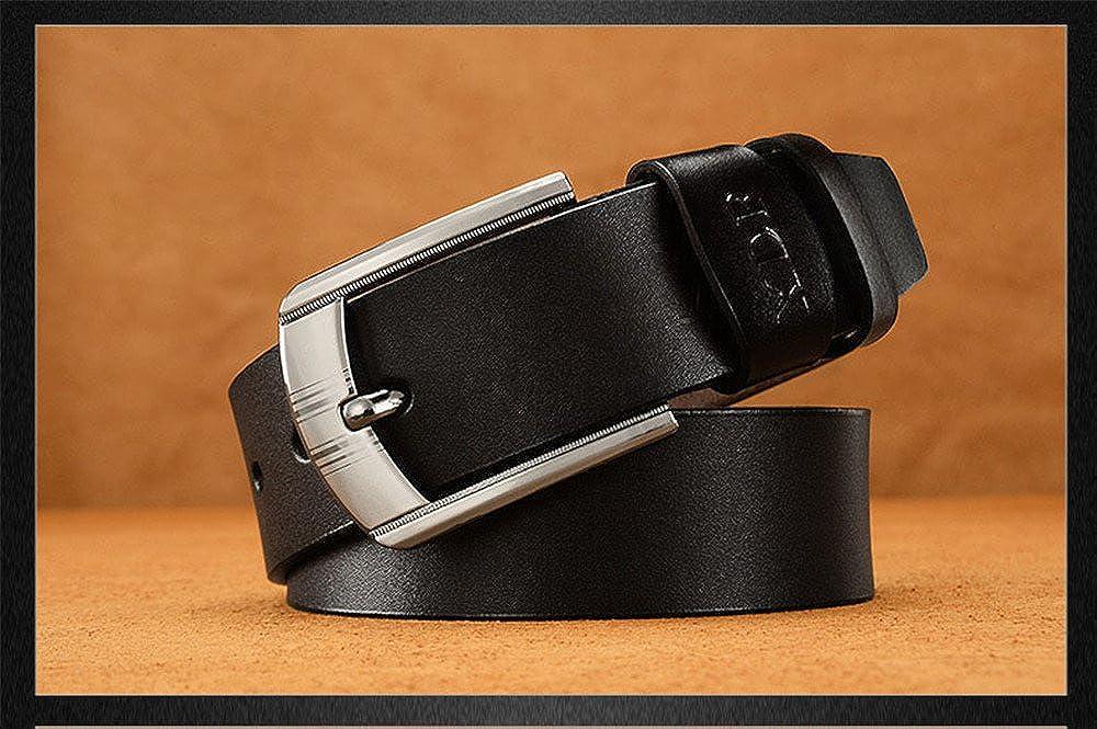 2018 Love and Team men leisure retro belt fashion pin buckle belt coffee, 110 cm