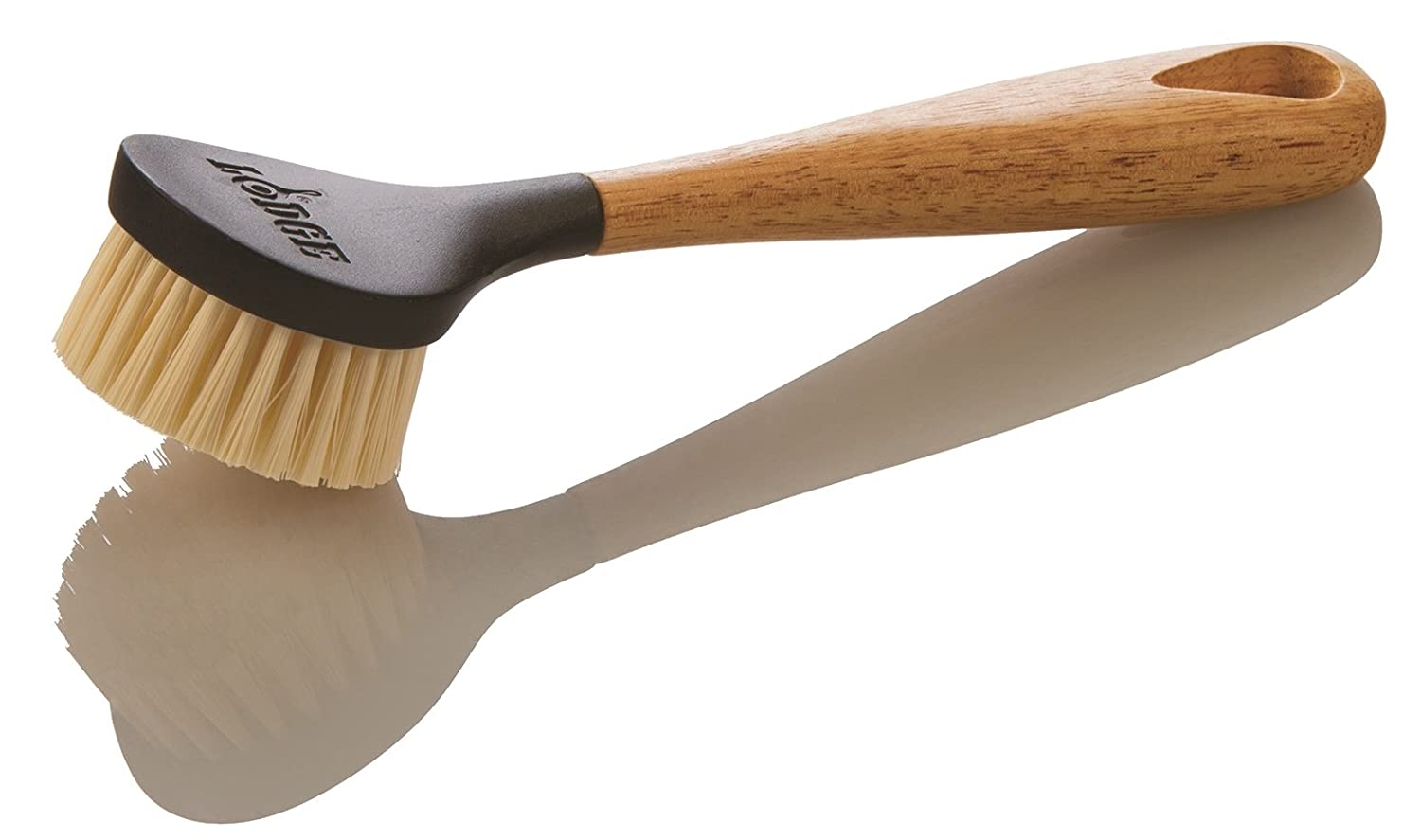 Lodge 10 Inch Scrub Brush. Cast Iron Scrub Brush with Ergonomic Design and Dense Bristles. SCRBRSH