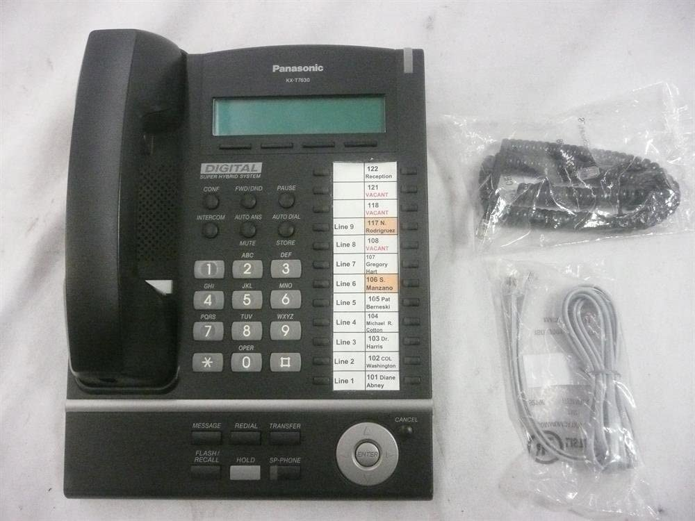 Panasonic KX-T7630 24 Button LCD Proprietary Speakerphone Black