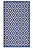 outdoor indoor rug - FH Home Reversible Floor Mat, 3 ft x 5 ft, Blue