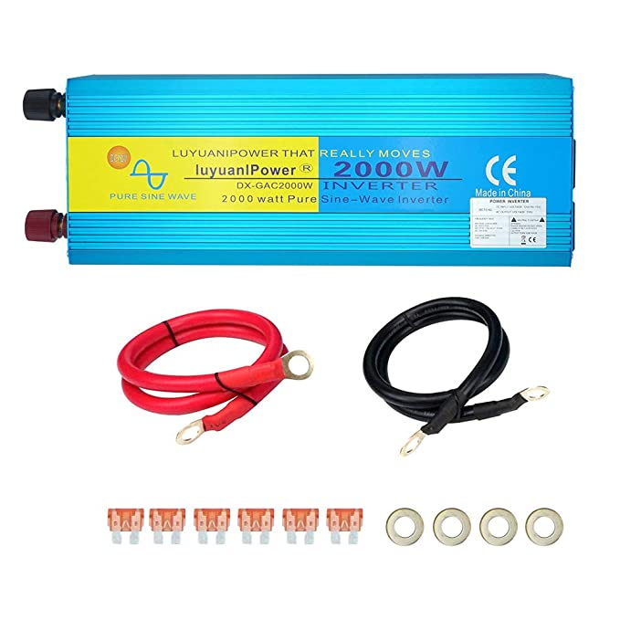 Yinleader Inversor De Corriente Onda Sinusoidal Pura 2000W 4000W Transformador De 24V inversor convertidor 24V A 230v, Inversor: Amazon.es: Electrónica