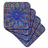 3dRose Danita Delimont - Patterns - Islamic Designs on Blue Pottery, Madaba, Jordan - set of 8 Ceramic Tile Coasters (cst_276903_4)