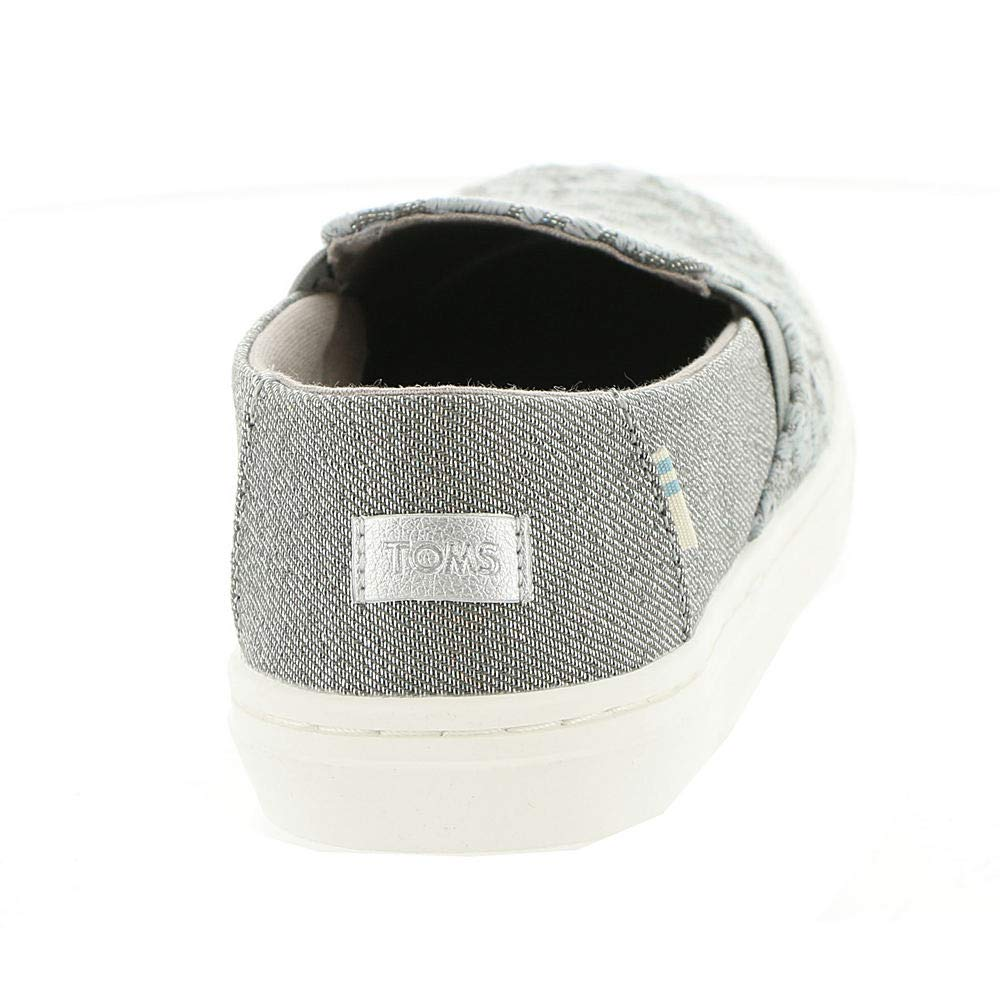 TOMS Neutral Grey Cheetah Embroidery Twill Glimmer Youth Luca Slip-Ons Shoes (12 M Little Kid) by TOMS Kids (Image #6)