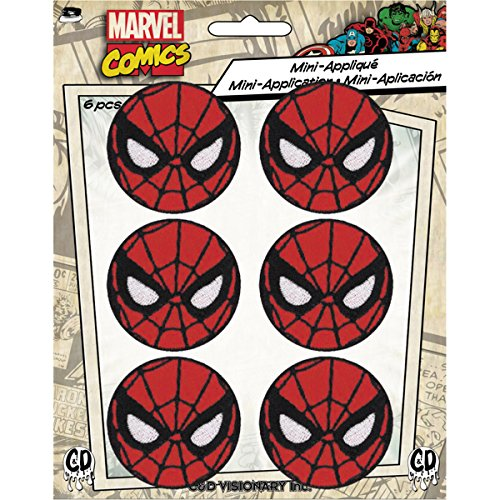 Application Marvel Comics Retro Spiderman 6 Pat Ch Set Novelty, 1.625""