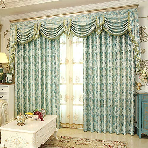 Warm Day Window Treatment Thermal Insulated Black Out Grommet Blackout Long Curtains Drapes for Bedroom-2 Panels + 2 Sheers + 1 valance-100W by 96L-03