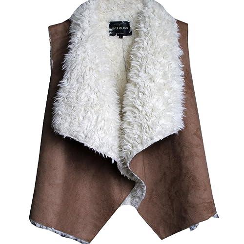 WTUS Abrigo y Chaleco de invierno vintage para mujer
