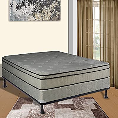 Continental Sleep Euro Top Orthopedic Mattress and Semi-Flex Box Spring with Cozy Teddy Bear Fabric, King