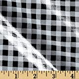 Oil Cloth Gingham Black/White Fabric By The Yard by OilCloth International