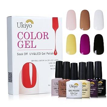 Amazon.com: Juego de esmalte de uñas de gel UV LED Esmalte ...