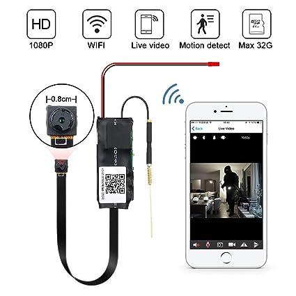 Mini WiFi Cámara Espía LXMIMI 1080P Mini WiFi Cámara Oculta Inalámbrica Mini Cámara con Control de