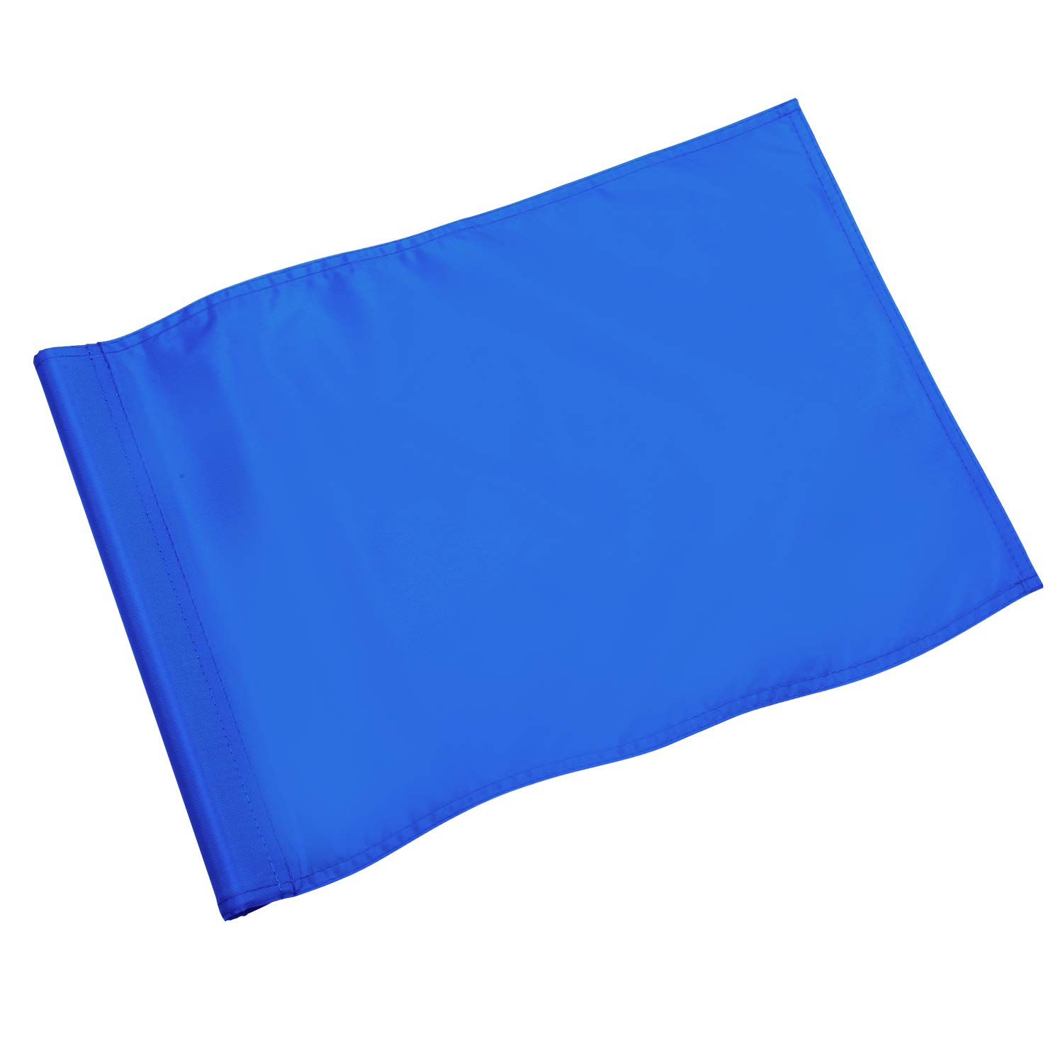 KINGTOP Solid Golf Flag with Plastic Insert, Putting Green Flags for Yard, Indoor/Outdoor, Garden Pin Flags, 420D Premium Nylon Flag, 13'' L x 20'' H, Blue by KINGTOP
