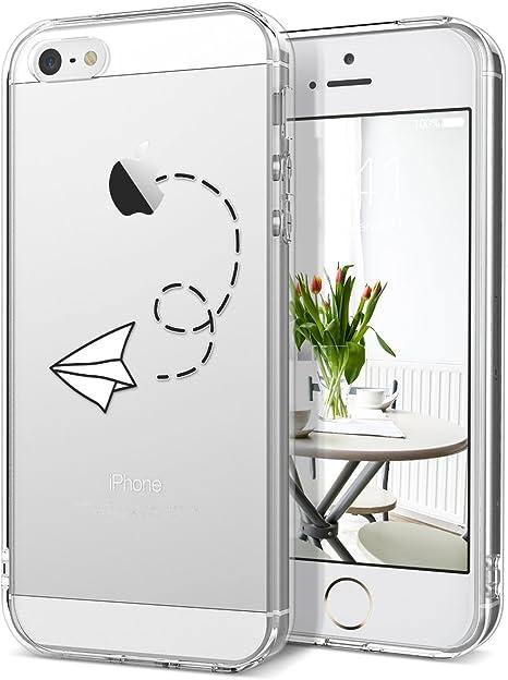 Grandever Transparent Case For Apple Iphone Se 5s Amazon Co Uk Electronics