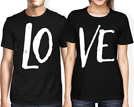 Haase Unlimited Matching Couple Love Lo Ve Valentine T Shirt
