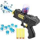 Bocks Shooting Gun Blasters, 2-in-1 Shooting Gun Toy, Foam Dart and Water Polymer Ball Paintball Gun Toys for Kids Children, Foam Dart Detective Pistol Toy Antagonistic Game Set (Shooting Gun)