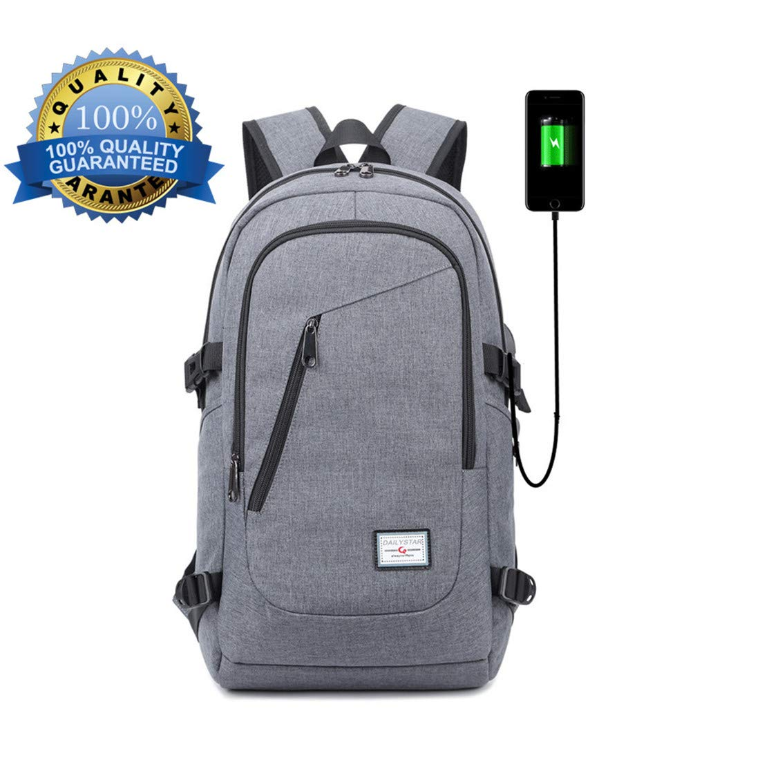 Laptop Backpack with USB Charging Port, Yawao School Business travel anti theft waterproof Larger Capacity, Fits 15/15.6 inch and below Laptop/Notebook Yowao-ca-tta 12015820031