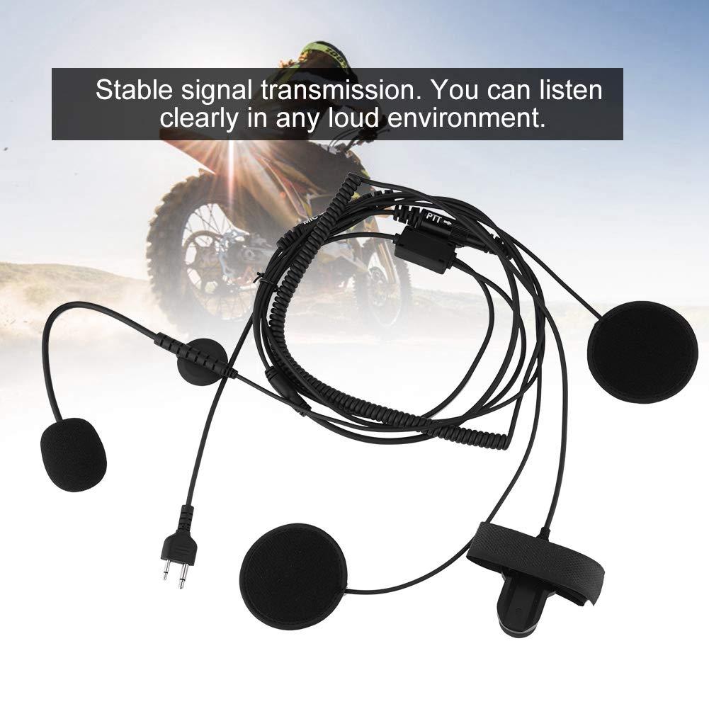 VBESTLIFE Casco de Moto Auricular Bluetooth con Micrófono ICOM IC-F21 para Walkie Talkie Transmisión de Señal Estable: Amazon.es: Electrónica