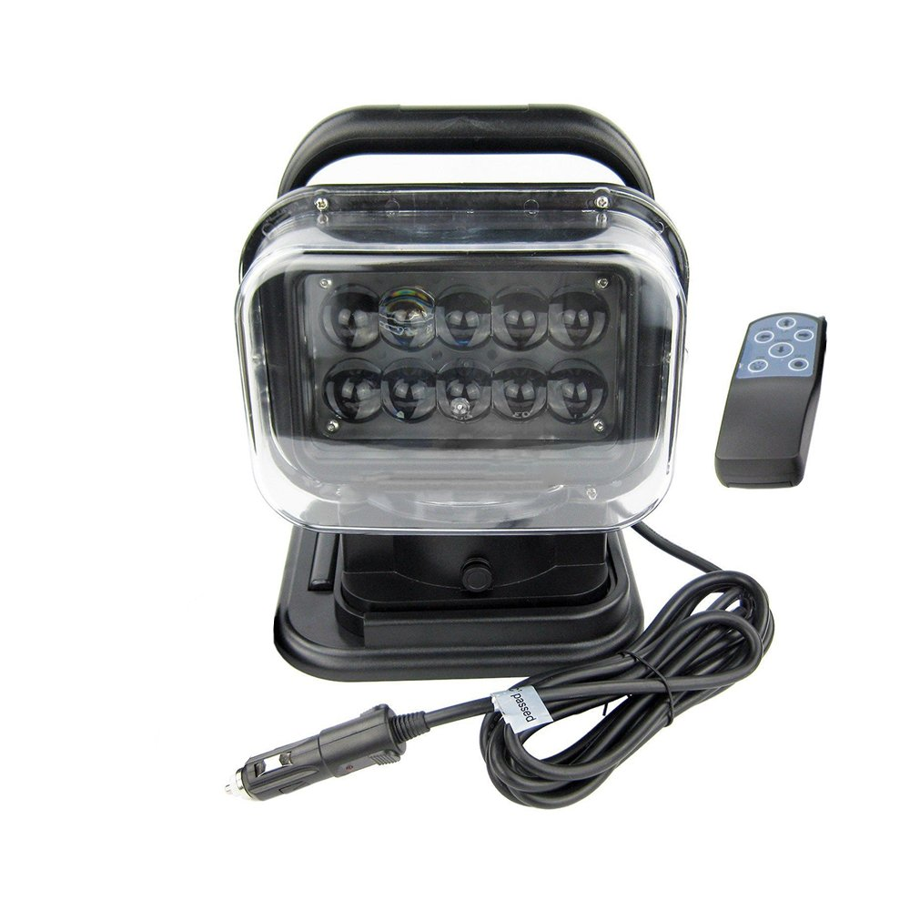 Pevor 50W LED Marine Remote Control Spotlight Search Light for Truck Car Boat-US Stock